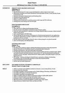 Graphics Specialist Resume Samples
