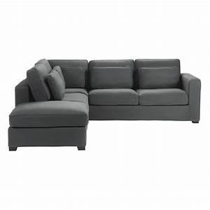 canape d39angle 5 places en coton gris ardoise milano With tapis bébé avec canapé 5 places angle