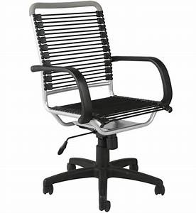 Bungee High Back Office Chair Black And Aluminum In