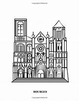 Gothic Cathedrals Coloring Europe Famous Heart Churches Hands sketch template