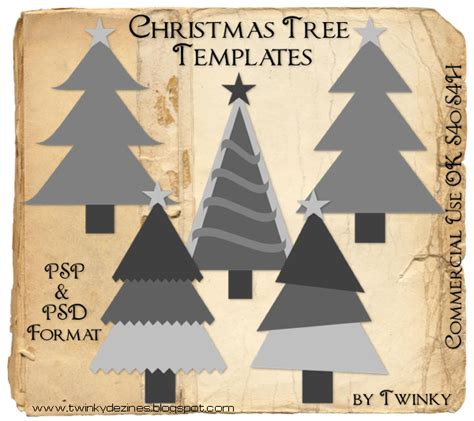 Christmas Templates Freebies by Twinky Dezines Freebie Christmas Tree Templates