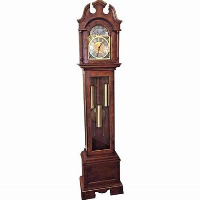 Grandfather Clock Herschede Westminster Running Chimes Burled