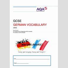New Aqa Gcse German Vocabulary Booklet 2016 Onwards By Brimshamlanguages  Teaching Resources