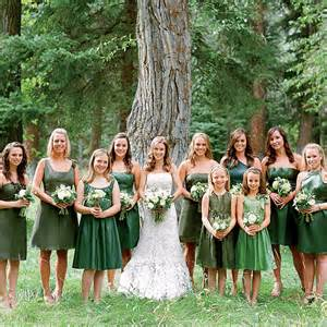 forest green bridesmaid dresses forest green wedding dresses images