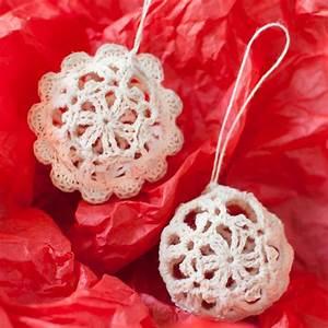 Lace Crochet Christmas Ornaments Free Pattern Petals