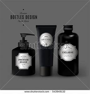 abstract vector illustration milk plombir ice stock vector With cosmetic packaging labels