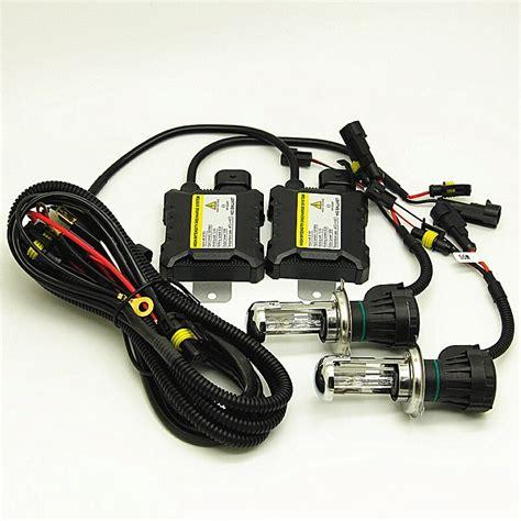 bulb h4 xenon hid 55w bi kit light headlight lo hi replacement