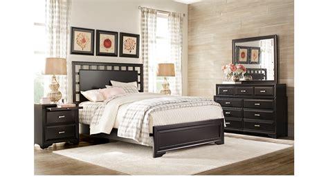 belcourt black 7 pc king lattice bedroom panel