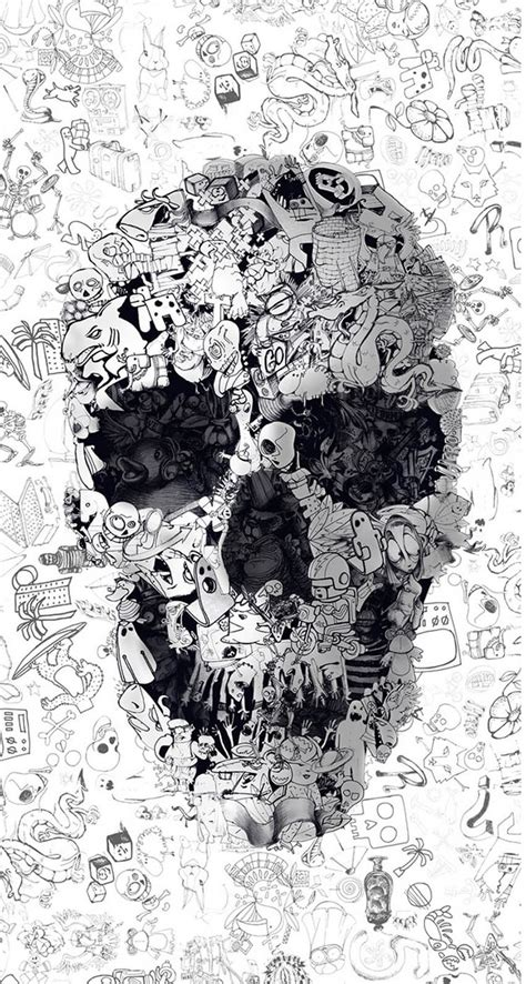 Search free iphone wallpapers on zedge and personalize your phone to suit you. Doodle skull - The iPhone Wallpapers