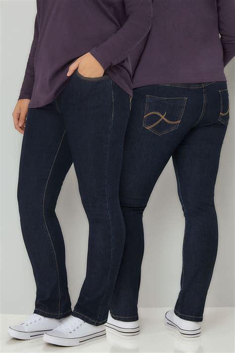 indigo pull  straight leg ruby jeans  size