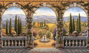 Tuscan Window Mural