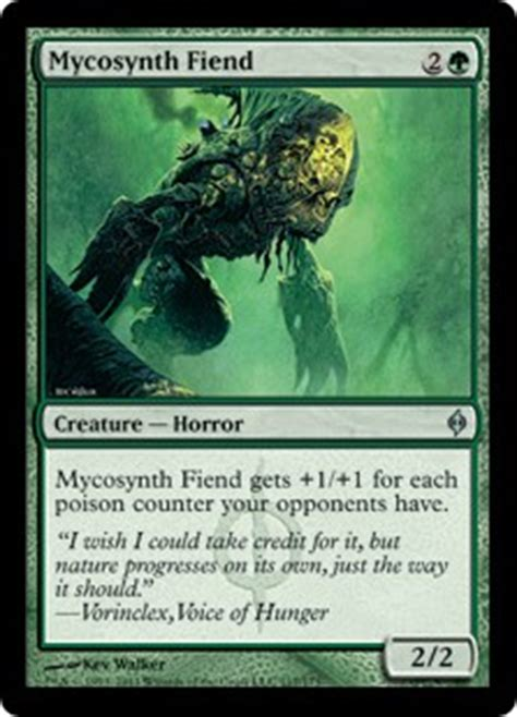 New Phyrexia Green Event Deck by Mycosynth Fiend New Phyrexia Gatherer Magic The