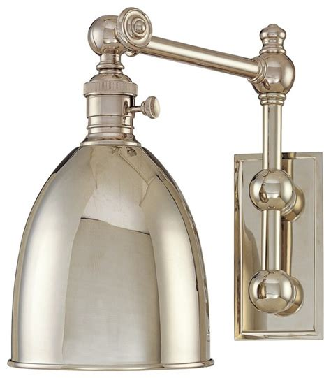 monroe polished nickel adjustable wall light traditional