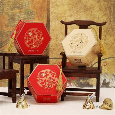 chinese style wedding party favor boxes candy boxes gift