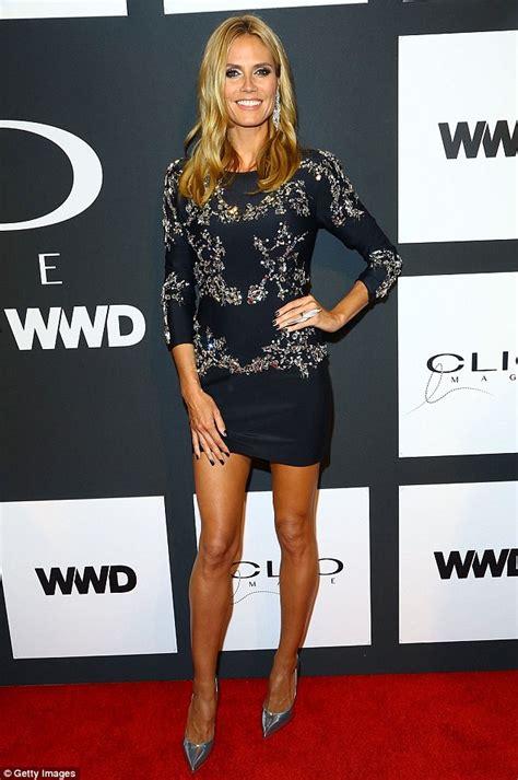 Heidi Klum Flaunts Her Iconic Legs At Clio Awards In Nyc