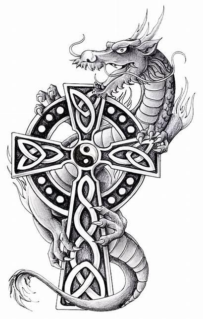 Celtic Dragon Tattoo Cross Tattoos Yang Designs