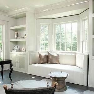 Dormer Window Seat with Bay Windows - Contemporary - Den
