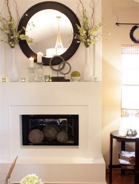 fireplace mantel mirror decorating ideas transform your fireplace mantel into a spring focal point