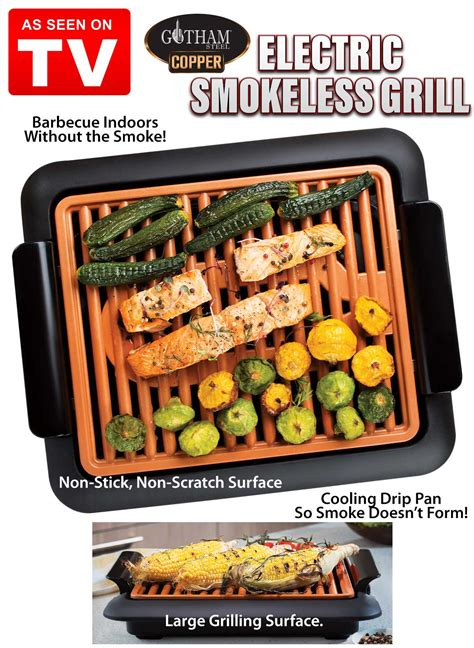 gotham steel smokeless grill carolwrightgiftscom
