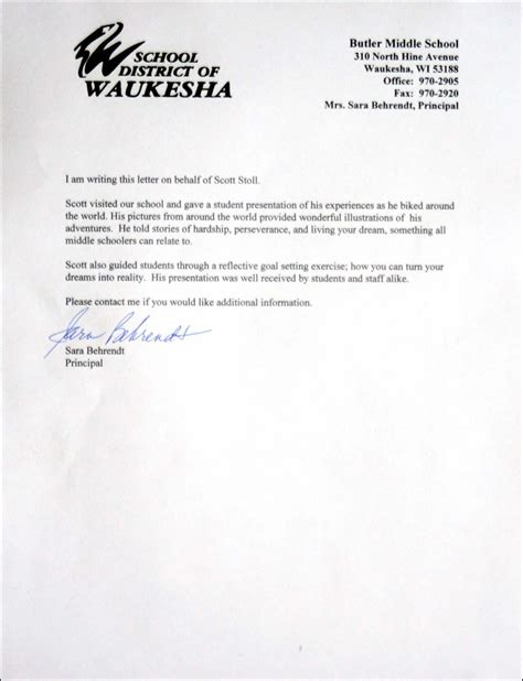 letter of commendation motivational speaker
