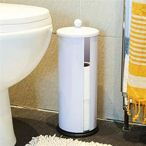2x, Free, Standing, Toilet, Roll, Holders, Bathroom, Paper, Storage, Tower, Unit, White