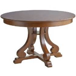 marchella pecan brown round dining table pier 1 imports