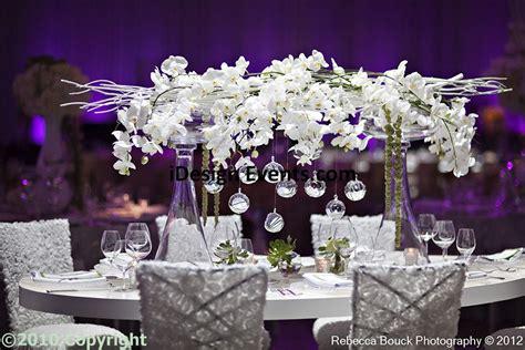 Double Pilsner Vase Orchid Centerpiece