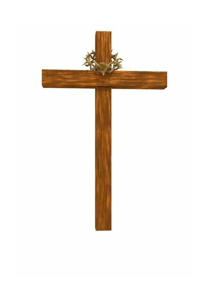 Cross Background Clipart Wooden Crown Thorns Christian