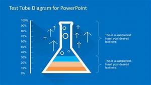 Test Tube Diagram Template For Powerpoint