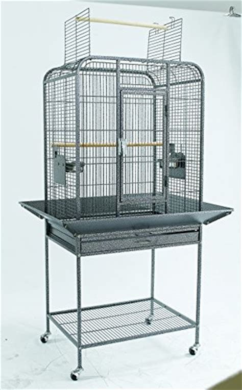 bird parrot cage xx  seed guards open top
