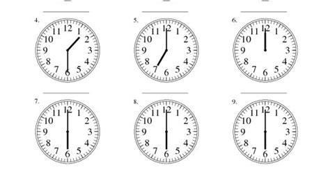 measurement worksheet reading time   analog clock