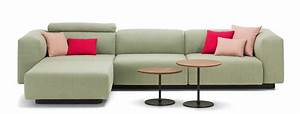 Vitra soft modular sofa three seater chaise longue for Modular sectional sofa with storage