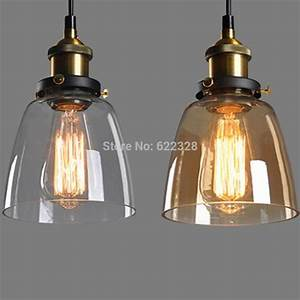 New vintage industrial diy ceiling lamp light glass