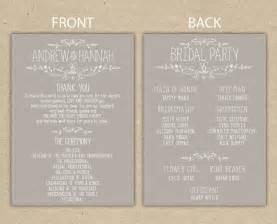 Wedding Program Templates Free