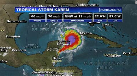tropical storm karen gains force aims   passagemaker