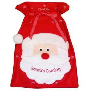 personalised santa sack personalised christmas gift ideas
