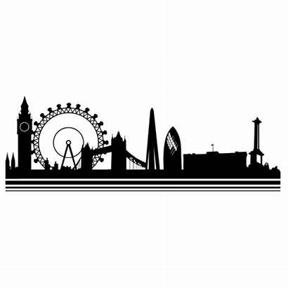 London Skyline Ciudades Silhouette Londres Vinilos Decal