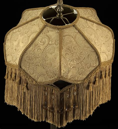 plain jane l shades victorian large lampshade gold embossed fabric w stunning