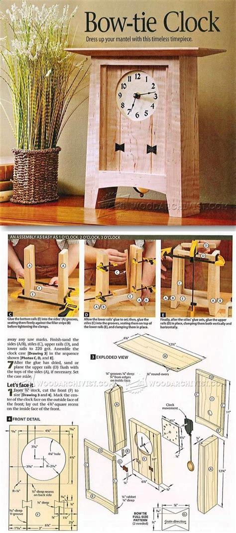 wooden clock plans ideas  pinterest wooden