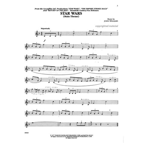 The music includes scans of public domain editions and editions we have created ourselves. Williams, John - Music From The Star Wars Trilogy - Violin - Alfred Music Publishing   SHAR ...