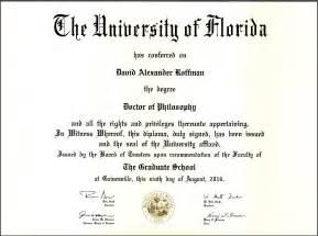 For Physics PhD Degree Certificate Sample