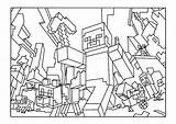 Minecraft Pages Coloring Colouring Printable Throw Party sketch template