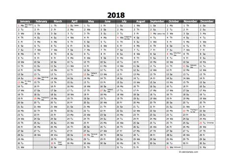 excel 2018 yearly calendar editable 2018 yearly excel scheduling calendar free