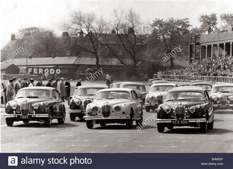 Jaguar S-type Saloon Car Motor Racing Apr. 1961;the Start Of The Stock Photo, Royalty Free Image