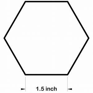 1 5 inch hexagon template - hexagon paper templates for patchwork freezer paper hexagons
