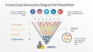 4 Level Lead Generation Diagram For Powerpoint