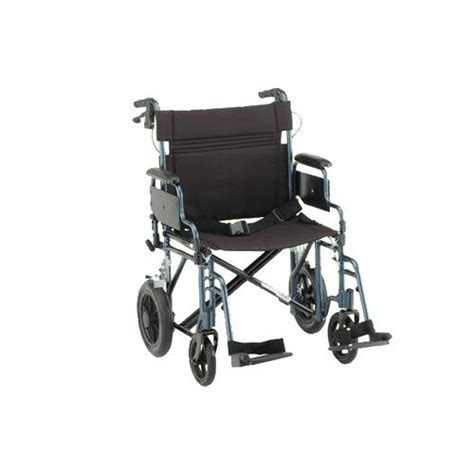22 inches transport chair with brakes