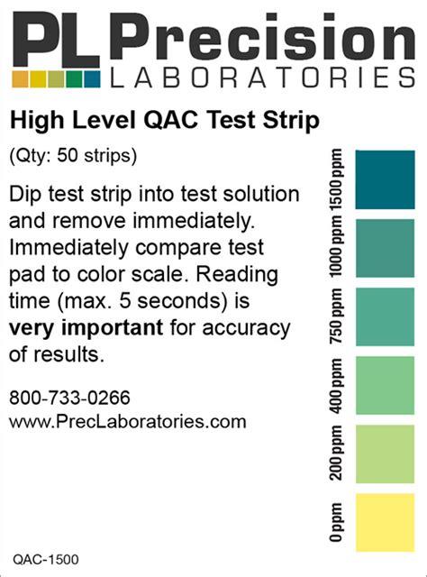 high level qac test strip ppm precision laboratories