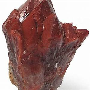 Red Quartz Crystal Cluster, Red Hematite from ...