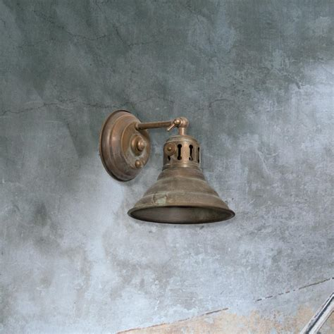e2 contract lighting products aged brass wall light